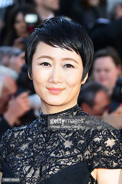 Zhao Tao attends the 'Zulu' Premiere and Closing Ceremony during the 66th Annual Cannes Film Festival at the Palais des Festivals on May 26 2013 in...