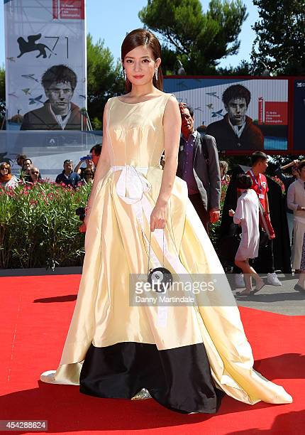 Zhao Wei attends 'Dearest' Premiere during the 71st Venice Film Festival on August 28 2014 in Venice Italy