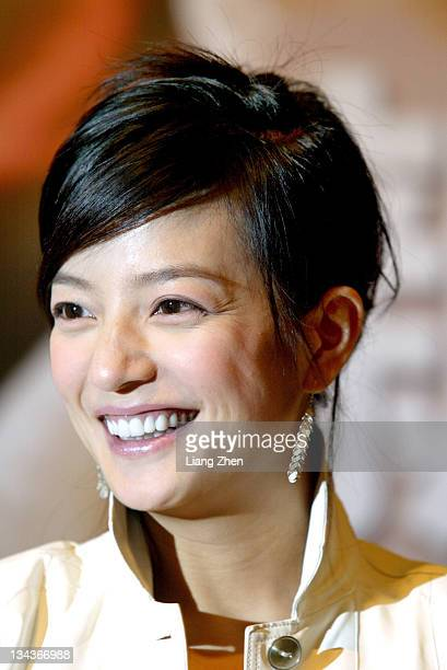 Zhao Wei during 'Warriors of Heaven and Earth' Shanghai Press Conference in Shanghai Shanghai China