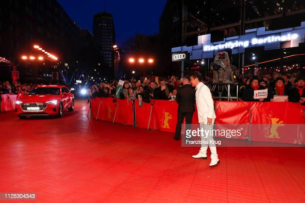 Zhao Yanguozhang arrives in Audi e-tron car for the closing ceremony of the 69th Berlinale International Film Festival Berlin at Berlinale Palace on...