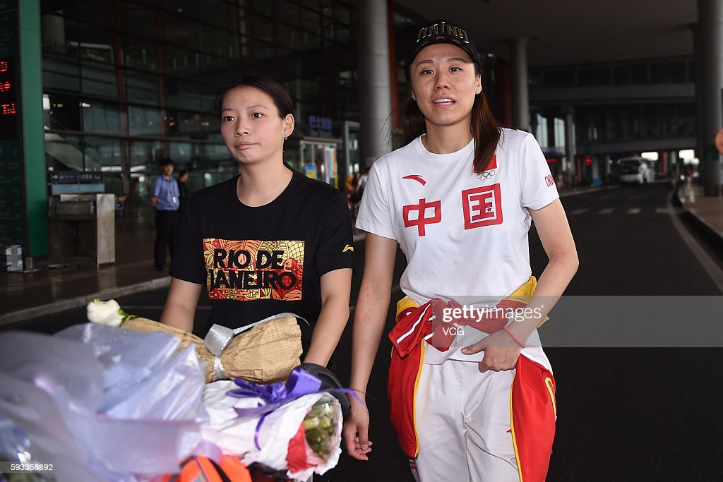 Chinese Athletes Return To Beijing After Rio Olympics