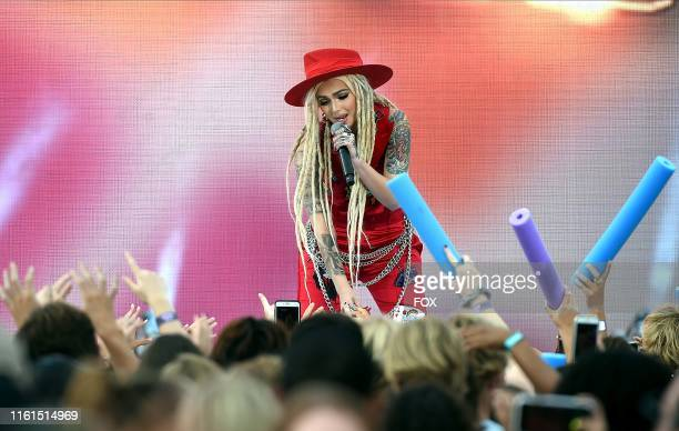 Zhavia performs onstage at TEEN CHOICE 2019 airing Sunday August 11 on FOX from Hermosa Beach CA