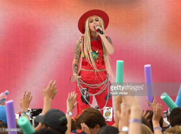 Zhavia performs onstage during FOX's Teen Choice Awards 2019 on August 11 2019 in Hermosa Beach California