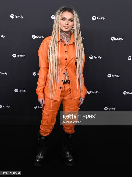 Zhavia Ward arrives at the Spotify Best New Artist 2020 Party at The Lot Studios on January 23 2020 in Los Angeles California