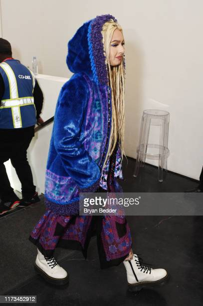 Zhavia Ward arrives to NYFW The Shows at Spring Studios on September 09 2019 in New York City