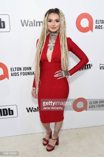 Zhavia Ward attends the 28th Annual Elton John AIDS Foundation Academy Awards Viewing Party sponsored by IMDb Neuro Drinks and Walmart on February 09...
