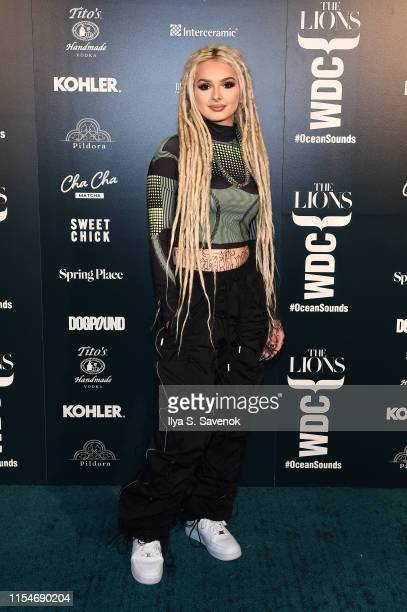 Zhavia Ward attends the The Lions X WDC World Ocean Day Event at Spring Place on June 08 2019 in New York City
