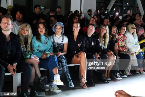 Zhavia Ward Gigi Hadid Irina Shayk GEazy Heidi Klum and Tom Kaulitz attend the Jeremy Scott front row during New York Fashion Week The Shows at...