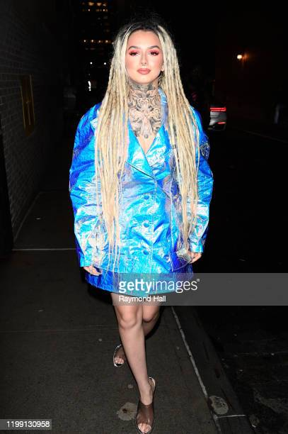 Zhavia Ward is seen leaving the Christian Siriano Fall Winter 2020 NYFW at Spring Studios on February 6 2020 in New York City