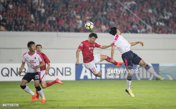 Zheng long of Guangzhou Evergrande Taobao in action during the 2018 AFC Champions League Group G match between Gunagzhou Evergrande and Cerezo Osaka...