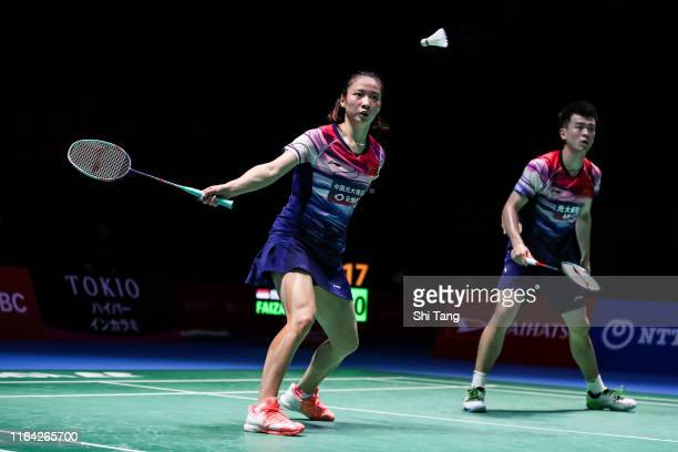 Zheng Siwei and Huang Yaqiong of China compete in the Mixed Doubles quarter finals match against Hafiz Faizal and Gloria Emanuelle Widjaja of...