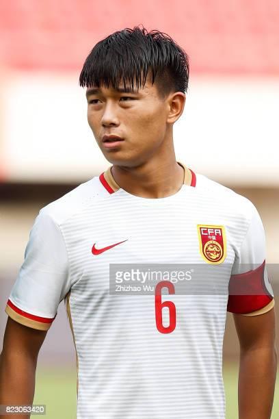 Zheng Xuejian of China during 2017'CEFC CUP'Jinshan International Youth Football Tournament between China 2024 Olympic Hope Team A v Bahrain U16...