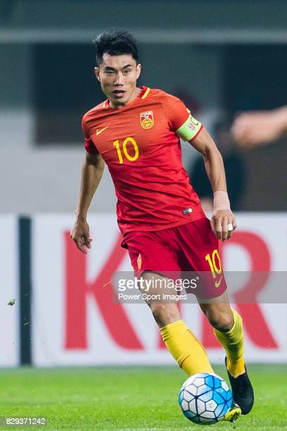 Zheng Zhi of China PR in action during their 2018 FIFA World Cup Russia Final Qualification Round Group A match between China PR and Korea Republic...