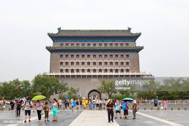 zhengyang gate in beijing - gwengoat stock pictures, royalty-free photos & images
