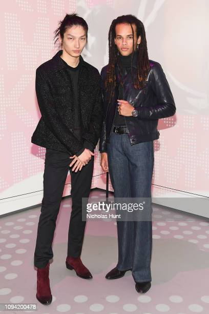 Zhengyang Zhang and Don Lee attend the Jump Into Spring MICHAEL Michael Kors Spring 2019 Launch Party at Dolby Soho on February 5 2019 in New York...
