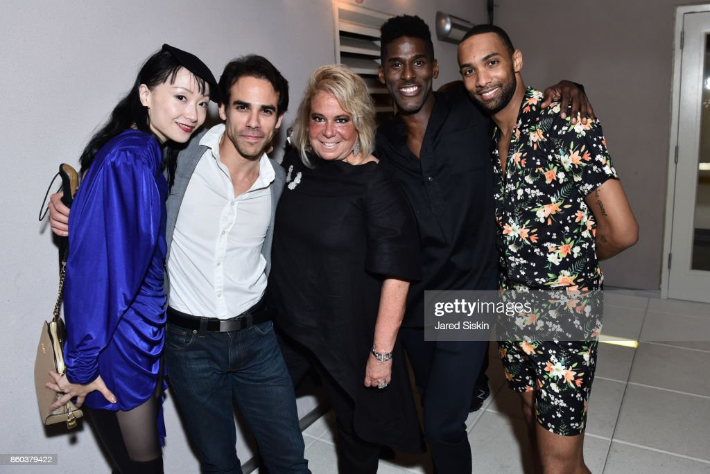 Zhongjing Fang, Francisco Graciano, Joanna Fisher, Lloyd Knight and Sean Aaron Carmon attend Joshua Beamish + MOVETHECOMPANY Premieres 'Saudade' in NYC at Brooklyn Academy of Music on October 11, 2017 in New York City.