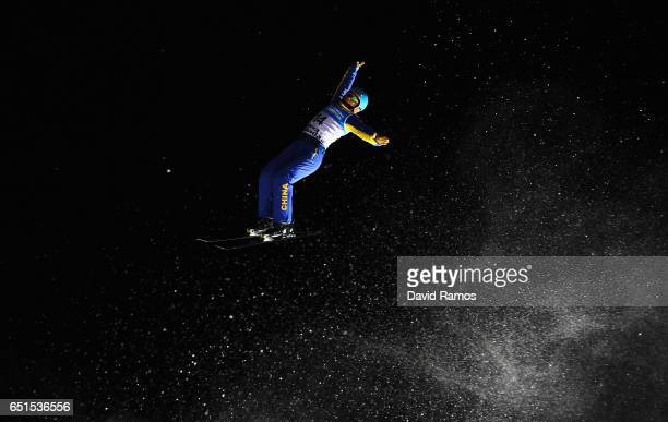 Zhongqing Liu of China competes during the Men's Aerials Final on day three of the FIS Freestyle Ski and Snowboard World Championships 2017 on March...