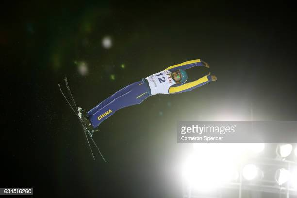 Zhongqing Liu of China competes in the FIS Freestyle Ski World Cup 2016/17 Mens Aerials final at Bokwang Snow Park on February 10 2017 in...