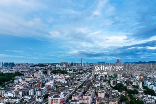 zhongshan city view - zhongshan stock-fotos und bilder