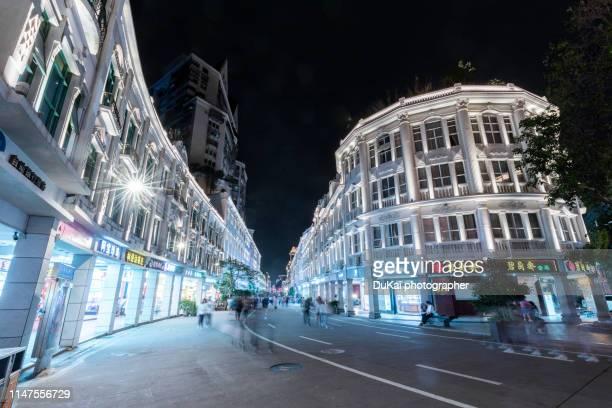 zhongshan road pestrian street, xiamen, fujian province, china - zhongshan stock-fotos und bilder