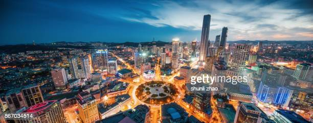 zhongshan square, dalian - zhongshan stock-fotos und bilder