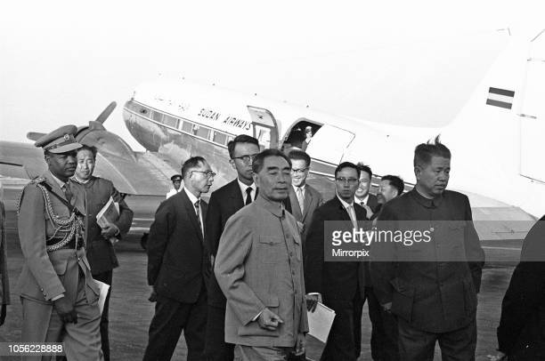 Zhou Enlai Premier of the Peoples Republic of China, seen here arriving at Khartoum Airport, 1st February 1964.