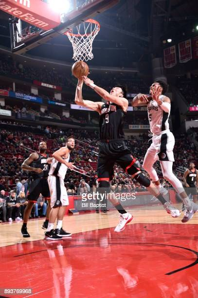 Zhou Qi of the Houston Rockets dunks against the San Antonio Spurs on December 15 2017 at the Toyota Center in Houston Texas NOTE TO USER User...