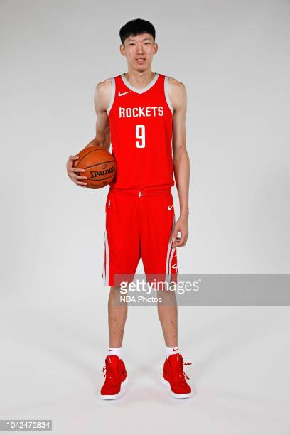 Zhou Qi of the Houston Rockets poses for a portrait during the Houston Rockets Media Day on September 24 2018 at the The Post Oak Hotel in Houston...