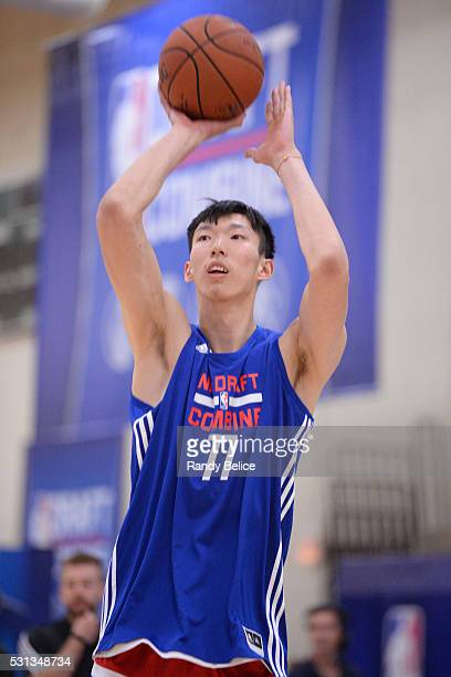 Zhou Qi shoots during 2016 NBA Draft Combine on May 12 2016 at the Quest Multisport in Chicago Illinois NOTE TO USER User expressly acknowledges and...