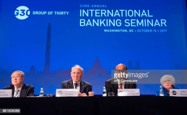 Zhou Xiaochuan Governor of the People's Bank of China JPMorgan Chase International Chairman Jacob Frenkel Singapore's Deputy Prime Minister and G30...