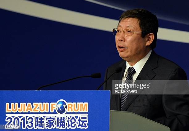 Zhou Xiaochuan governor of the People's Bank of China speaks at the Lujiazui Financial Forum in Shanghai on 28 June 2013 China's central bank said on...
