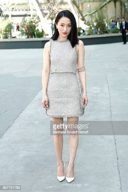 Zhou Xun attends the Chanel Haute Couture Fall/Winter 20172018 show as part of Haute Couture Paris Fashion Week on July 4 2017 in Paris France