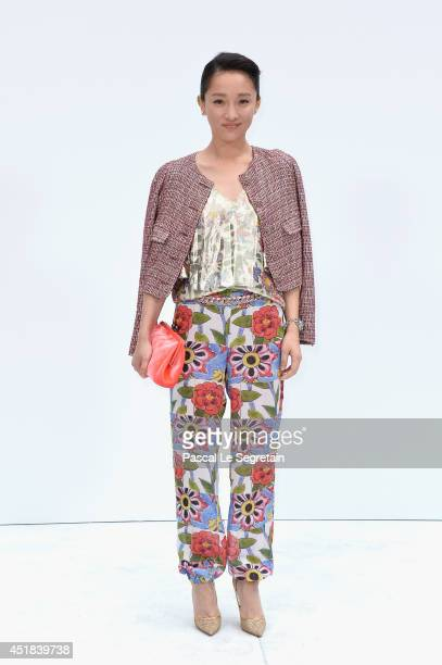 Zhou Xun attends the Chanel show as part of Paris Fashion Week Haute Couture Fall/Winter 20142015 at Grand Palais on July 8 2014 in Paris France