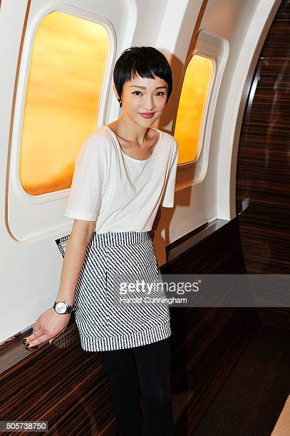 Zhou Xun visits the IWC booth during the launch of the Pilot's Watches Novelties from the Swiss luxury watch manufacturer IWC Schaffhausen at the...
