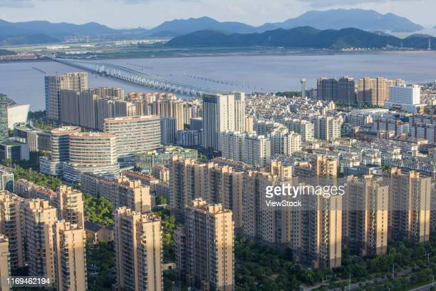 zhoushan donggang city - leeds skyline stock photos and pictures