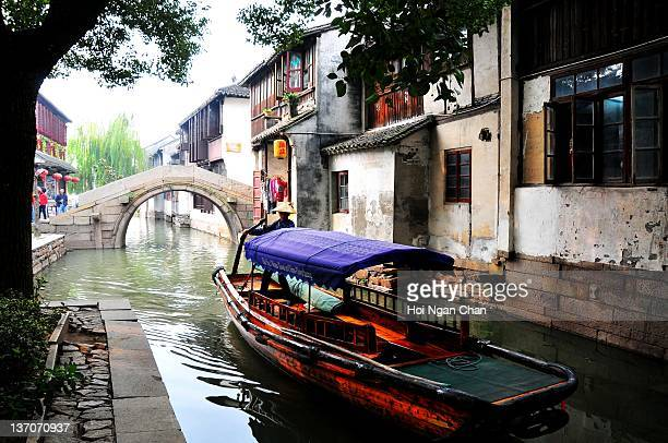Zhouzhuang one of most famous water townships in China reflection of house on water
