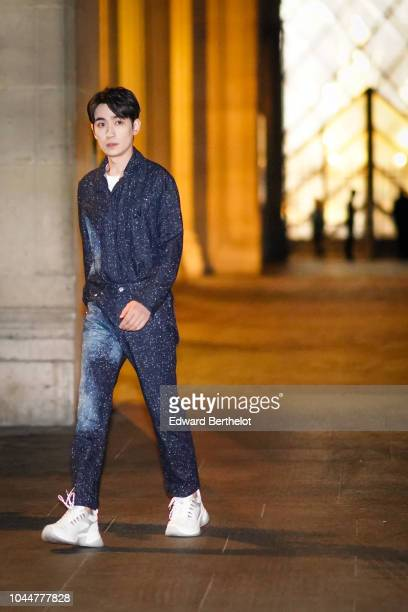 Zhu Yi Long attends the Louis Vuitton show during Paris Fashion Week Womenswear Spring/Summer 2019 on October 2 2018 in Paris France