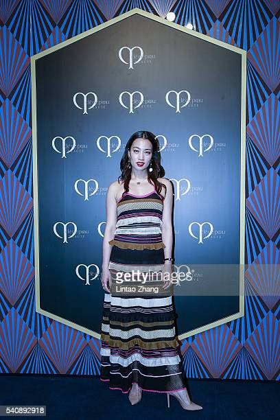 Zhu yi of China attends the promotional event for Shiseido's Cle de Peau Beaute on June 16 2016 in Shanghai China