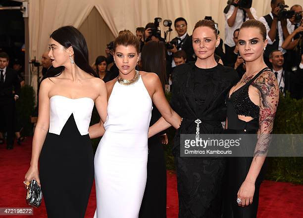 Zhu Zhu Sofia Ritchie Stella McCartney and Cara Delevigne attend the China Through The Looking Glass Costume Institute Benefit Gala at the...