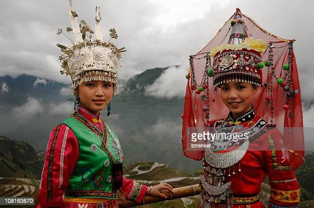 壮族と少数民族トンガールズ Longsheng 、中国