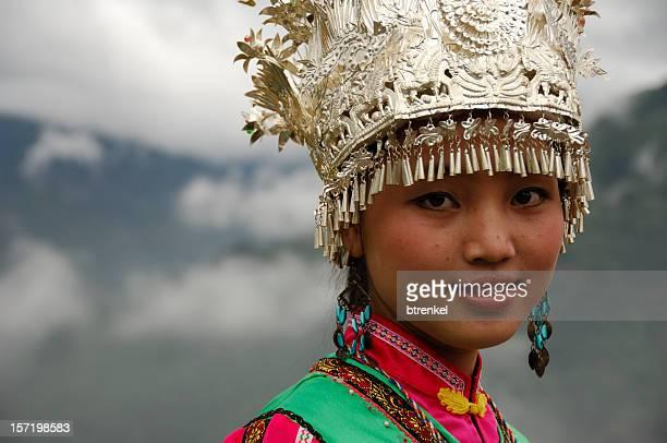 The 少数民族少女-Longsheng 、中国