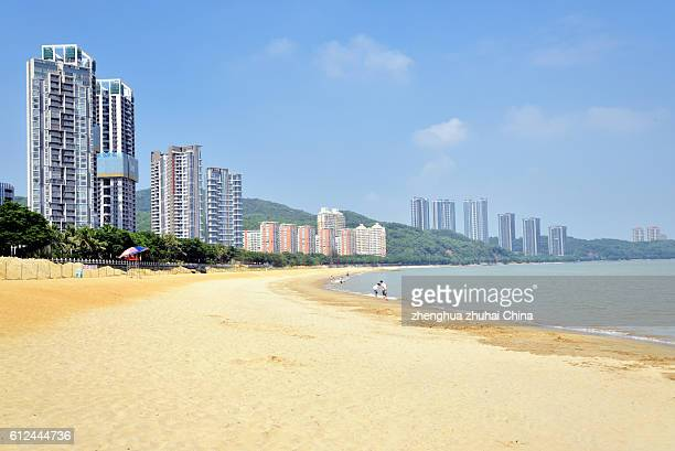 Zhuhai beach and residential