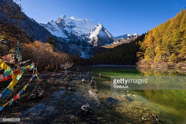 zhuomala lake in yading nature reserve - nature reserve stock pictures, royalty-free photos & images