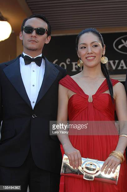 Zia and Chang Chen during 2007 Cannes Film Festival 'Soom' Premiere at Palais des Festivals in Cannes France