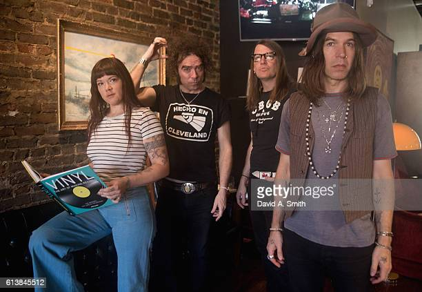 Zia McCabe Brent DeBoer Courtney TaylorTaylor and Peter Holmstrom of The Dandy Warhols pose before their performance at Saturn Birmingham on October...