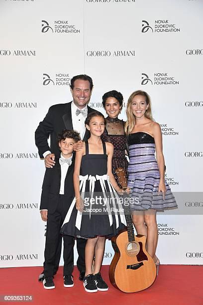 Zia Uehling, guests and Jelena Djokovic attend the Milano Gala Dinner benefitting the Novak Djokovic Foundation presented by Giorgio Armani at...