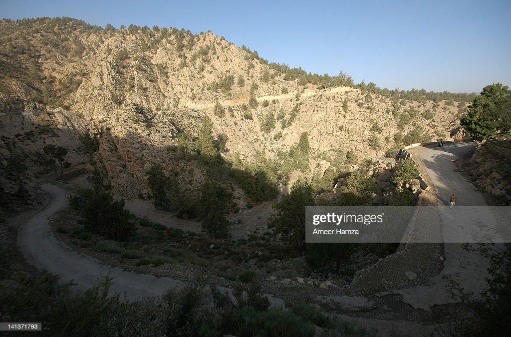 Ziarat curve road : Stock Photo