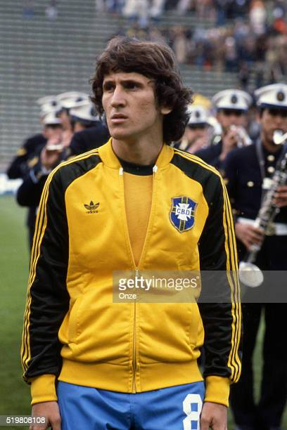 Zico during the match between Brazil and Sweden played at Mar Del Plata Argentina on June 3rd 1978