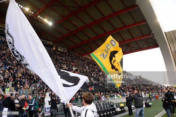Zico fans shows their support before the Serie A match between Udinese Calcio and US Sassuolo at Stadio Friuli on February 19 2017 in Udine Italy