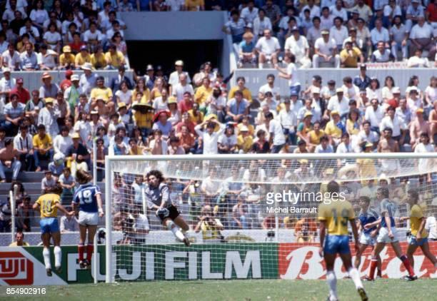 Zico / Joel Bats France / Bresil Quart de Finale de la Coupe du Monde 1986